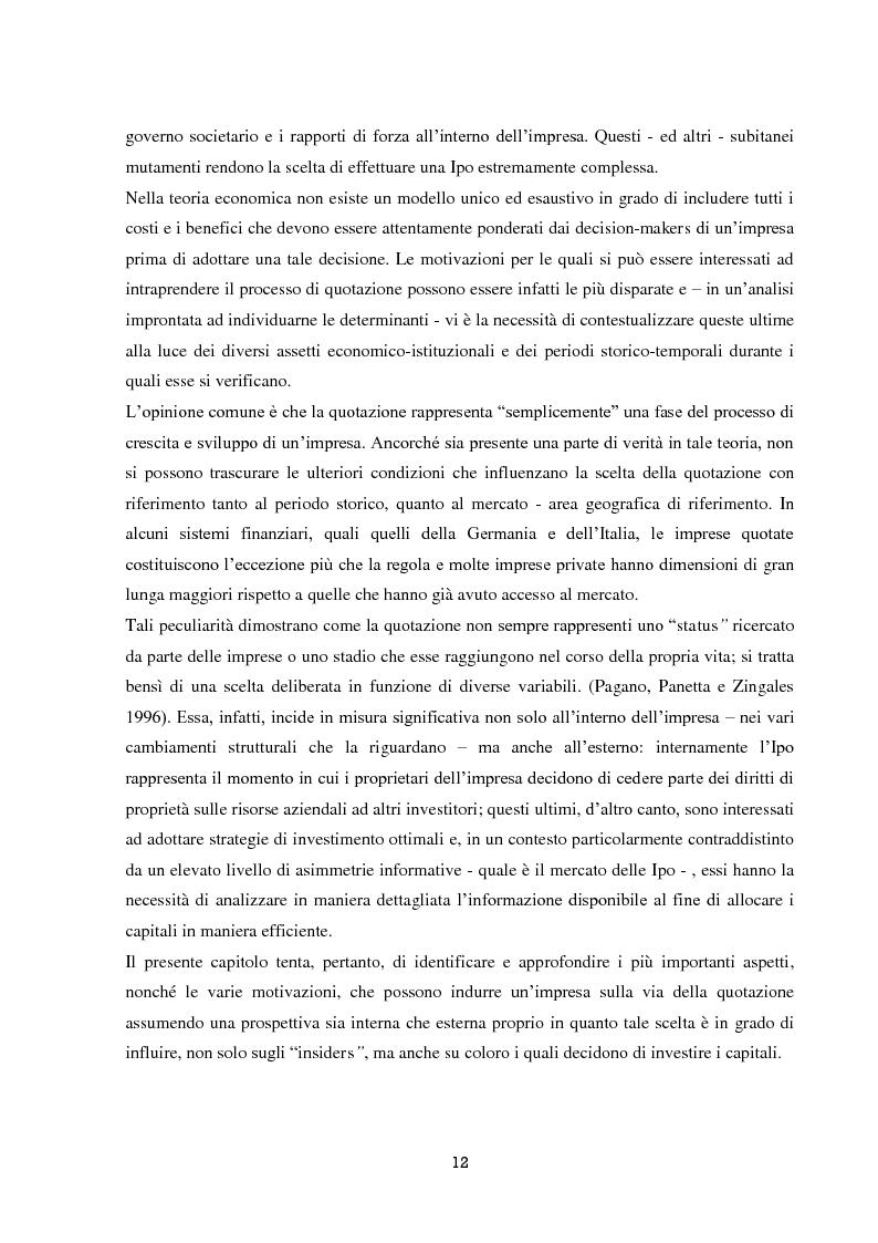 Anteprima della tesi: La performance di lungo periodo delle Initial public offerings, Pagina 8