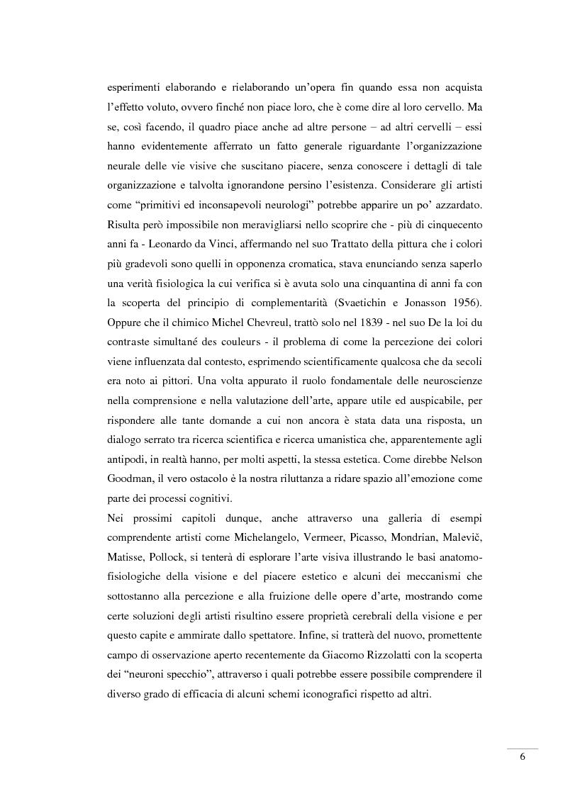 Anteprima della tesi: Il riconoscimento della bellezza. Basi neurofisiologiche del piacere estetico, Pagina 4