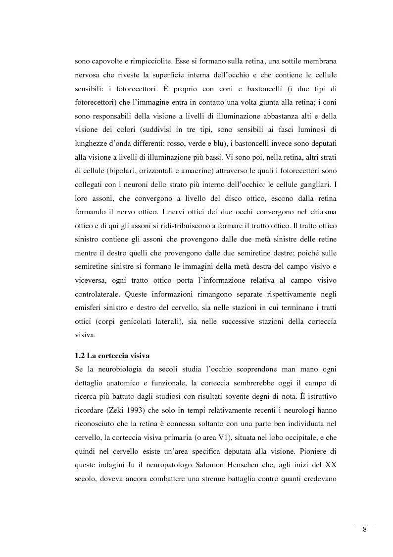 Anteprima della tesi: Il riconoscimento della bellezza. Basi neurofisiologiche del piacere estetico, Pagina 6