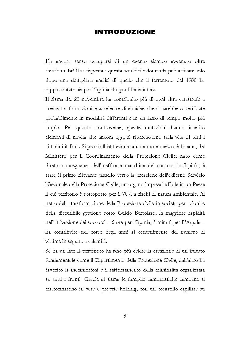 Anteprima della tesi: Irpinia Anno Zero. Come il terremoto del 1980 ha cambiato l'economia del territorio negli ultimi trent'anni, Pagina 2