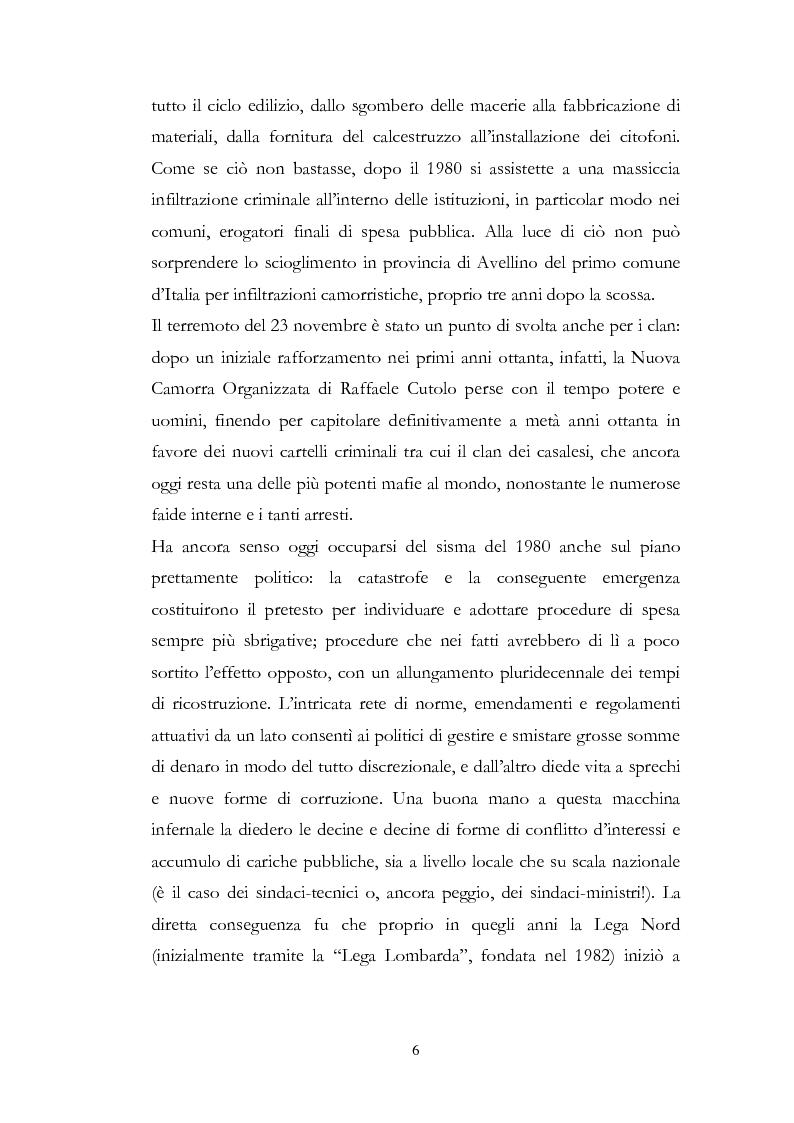 Anteprima della tesi: Irpinia Anno Zero. Come il terremoto del 1980 ha cambiato l'economia del territorio negli ultimi trent'anni, Pagina 3