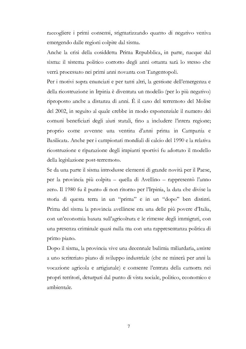 Anteprima della tesi: Irpinia Anno Zero. Come il terremoto del 1980 ha cambiato l'economia del territorio negli ultimi trent'anni, Pagina 4