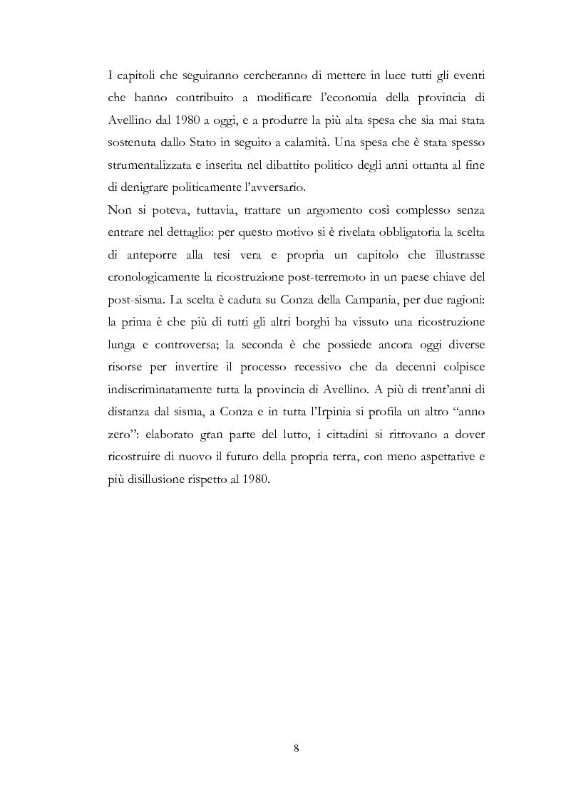 Anteprima della tesi: Irpinia Anno Zero. Come il terremoto del 1980 ha cambiato l'economia del territorio negli ultimi trent'anni, Pagina 5
