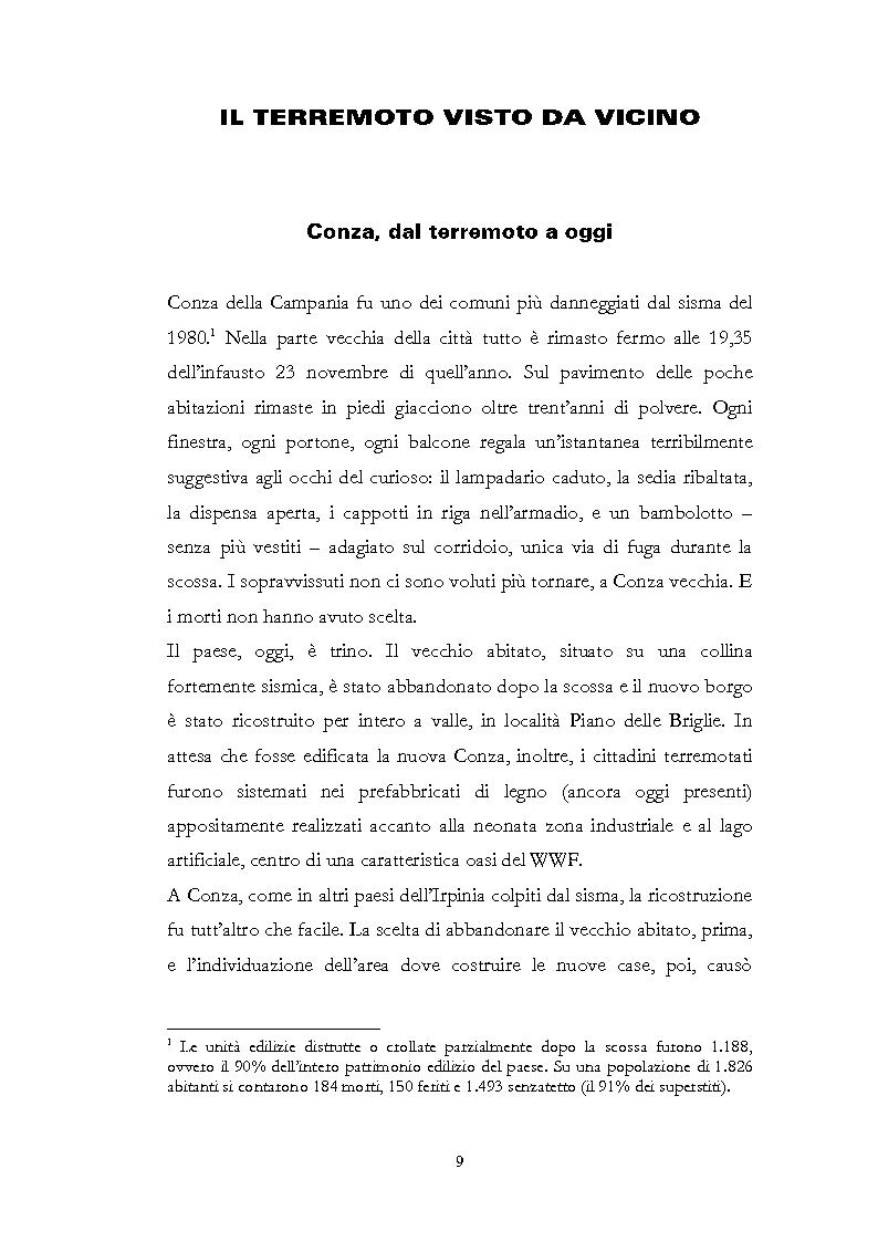 Anteprima della tesi: Irpinia Anno Zero. Come il terremoto del 1980 ha cambiato l'economia del territorio negli ultimi trent'anni, Pagina 6