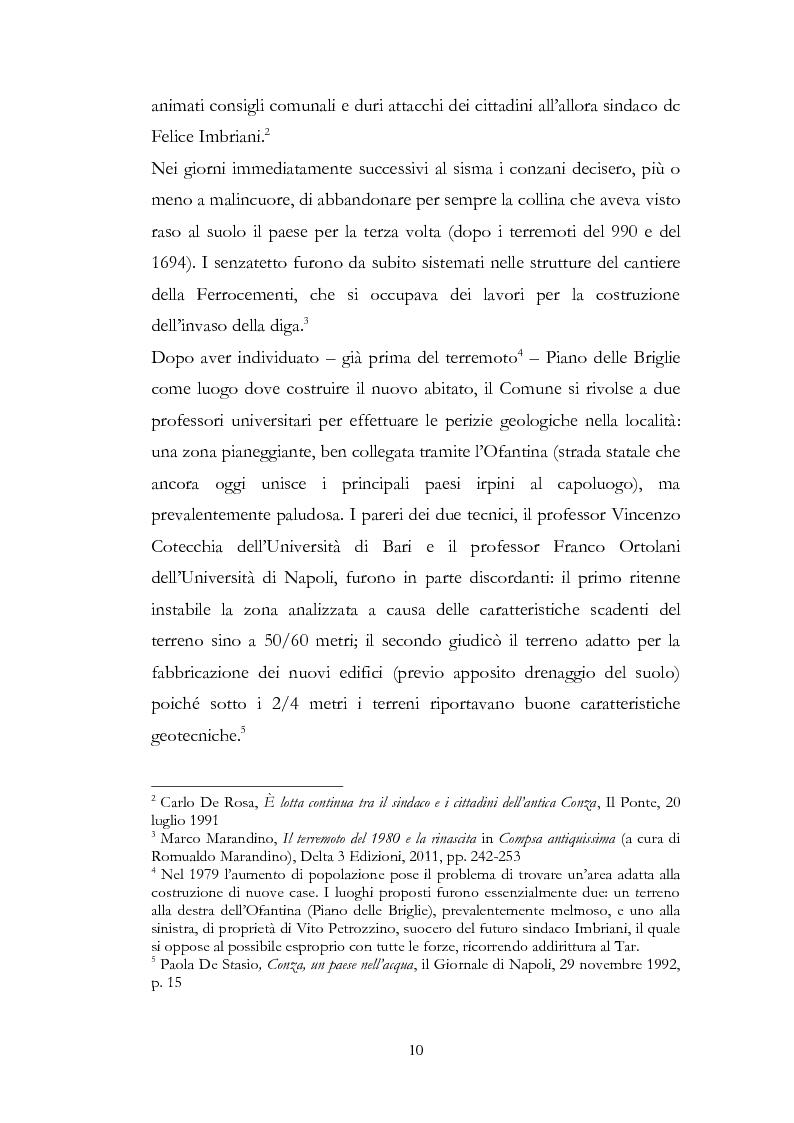 Anteprima della tesi: Irpinia Anno Zero. Come il terremoto del 1980 ha cambiato l'economia del territorio negli ultimi trent'anni, Pagina 7