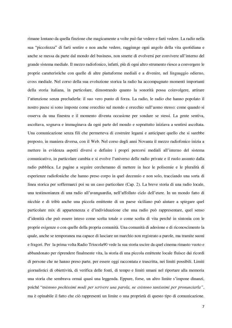 Anteprima della tesi: L'avventura di RT90. La voce intangibile di un popolo nel panorama radiofonico degli anni '90, Pagina 3