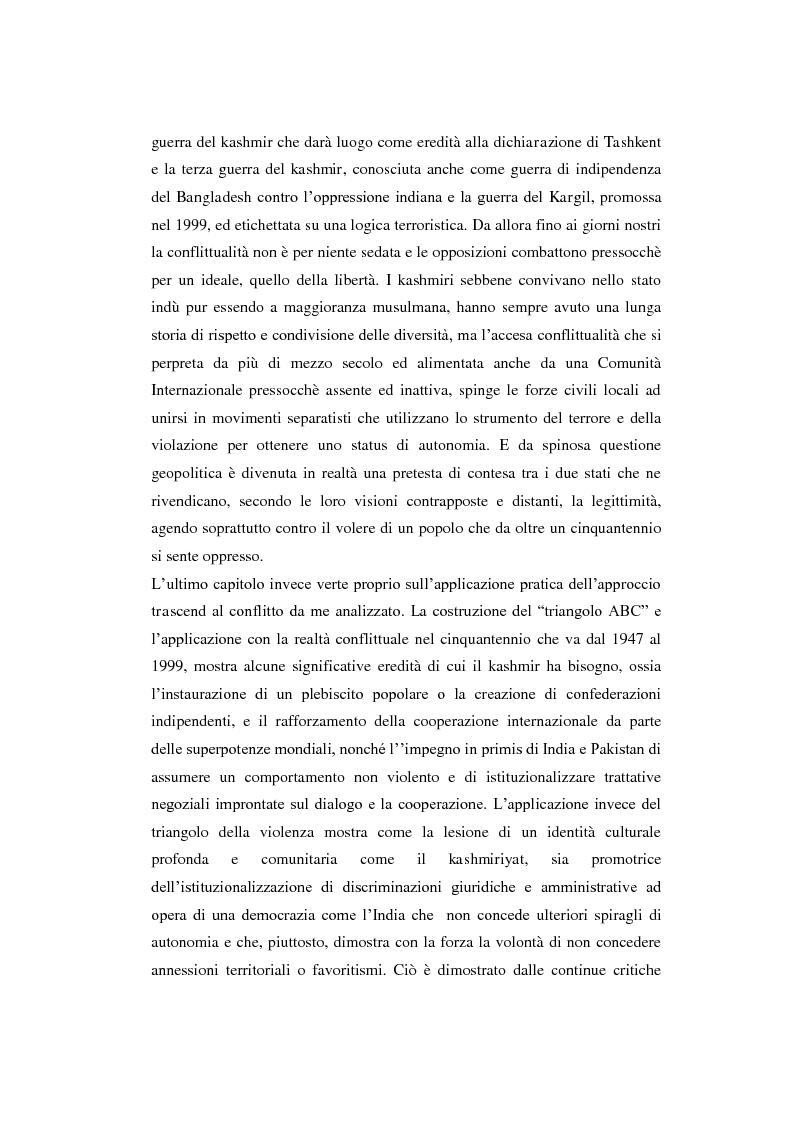 Anteprima della tesi: Il conflitto del Kashmir: l'approccio della Peace Research, Pagina 7