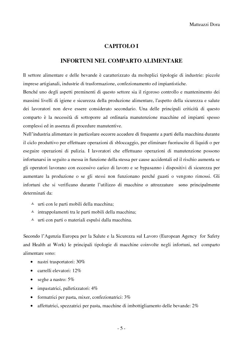 Anteprima della tesi: Esiti analisi e commento degli infortuni sul lavoro accaduti nel territorio di competenza dell'azienda ULSS n°16 di Padova nel comparto alimentare durante l'utilizzo di macchine, Pagina 6