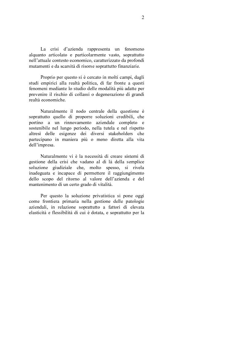 Anteprima della tesi: La crisi d'impresa e le strategie di turnaround. Il caso Ciabor., Pagina 3