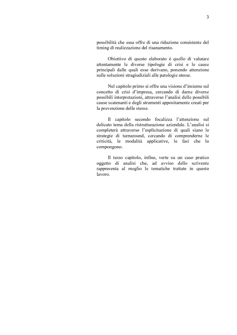 Anteprima della tesi: La crisi d'impresa e le strategie di turnaround. Il caso Ciabor., Pagina 4