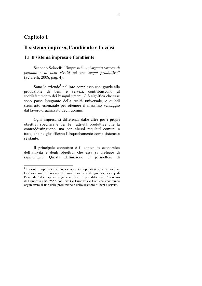 Anteprima della tesi: La crisi d'impresa e le strategie di turnaround. Il caso Ciabor., Pagina 5