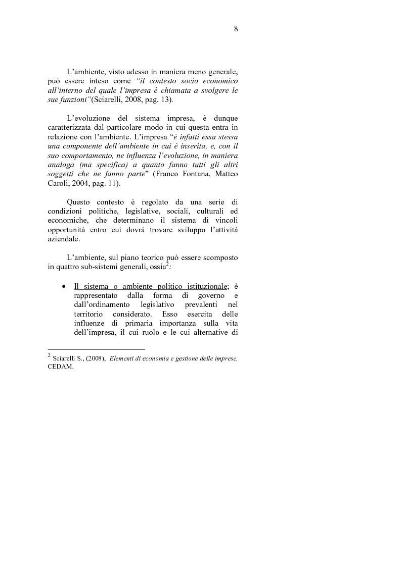 Anteprima della tesi: La crisi d'impresa e le strategie di turnaround. Il caso Ciabor., Pagina 9