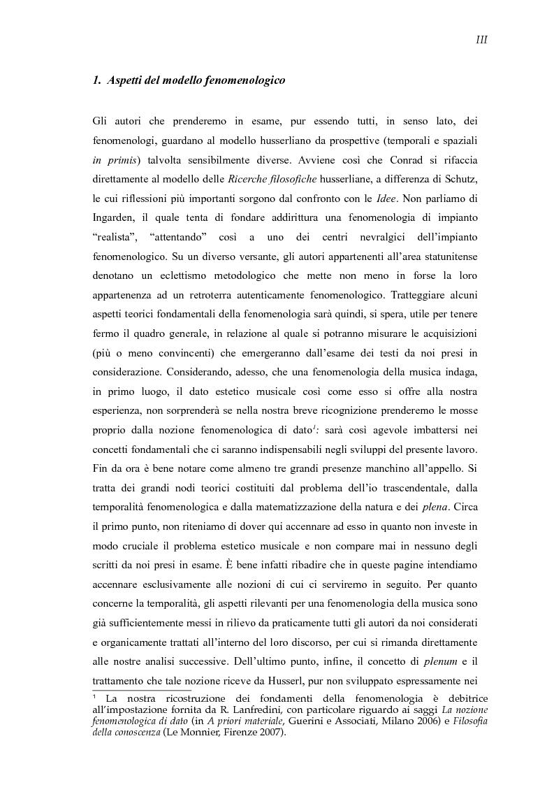 Anteprima della tesi: Mondi sonori. Un itinerario fra fenomenologia e musica., Pagina 4