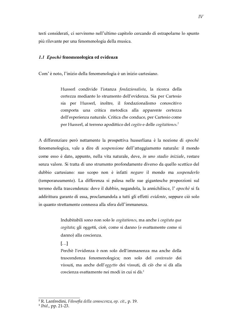 Anteprima della tesi: Mondi sonori. Un itinerario fra fenomenologia e musica., Pagina 5