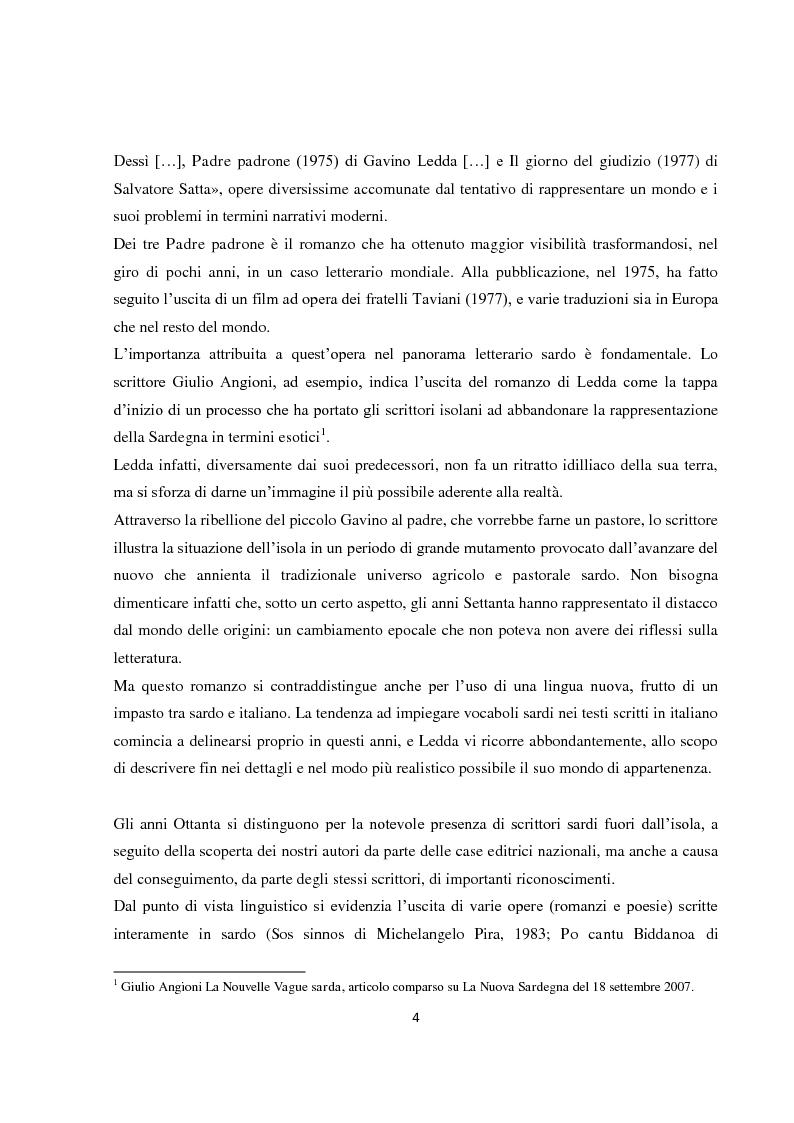 """Anteprima della tesi: L'italiano regionale sardo nel romanzo """"Accabadora"""" di Michela Murgia, Pagina 5"""