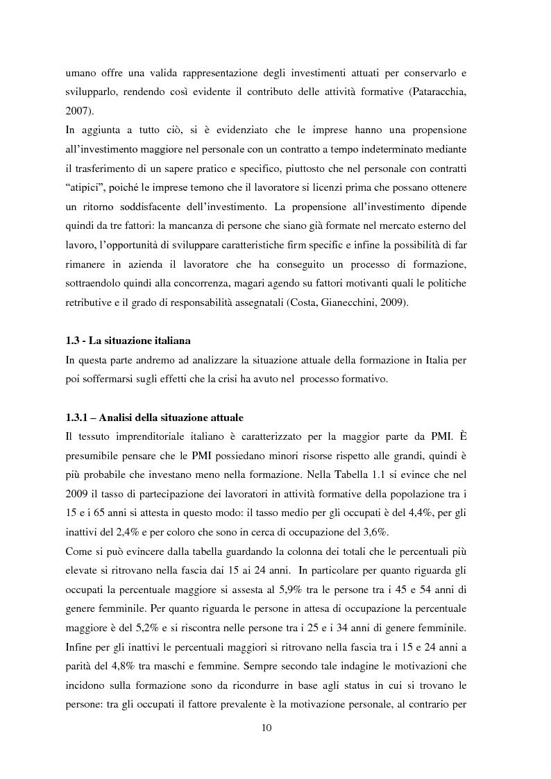 """Anteprima della tesi: Il metodo dell'e-learning nell'ambito del processo formativo. L'esempio del progetto """"SIFOL FVG"""" , Pagina 7"""