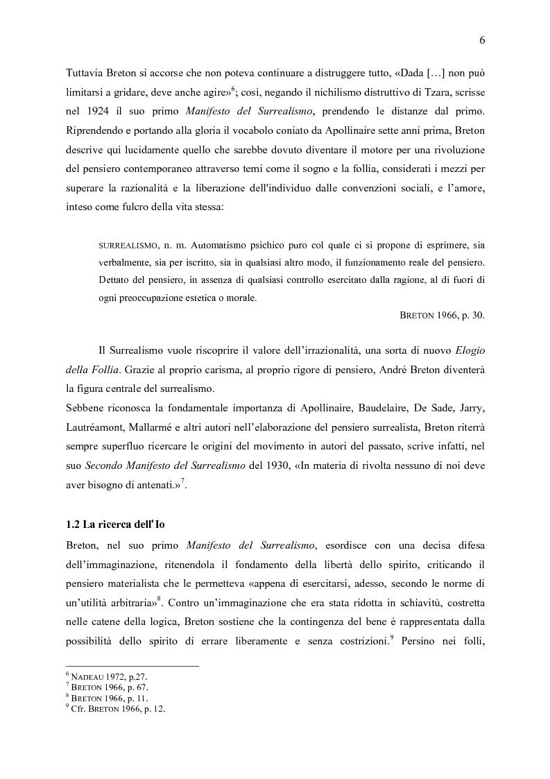 Anteprima della tesi: Aspetti dell'eredità surrealista da Andrè Breton a Michel Foucault, Pagina 5