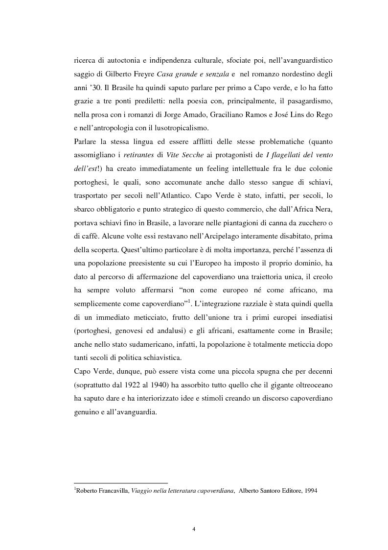 """Anteprima della tesi: Un ponte sull'Atlantico: influenza letteraria brasiliana sulla generazione di """"Claridade"""", Pagina 3"""