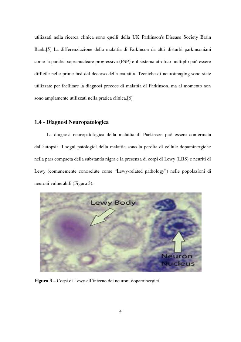 Anteprima della tesi: Fattori di rischio genetici e ambientali nella malattia di Parkinson, Pagina 5