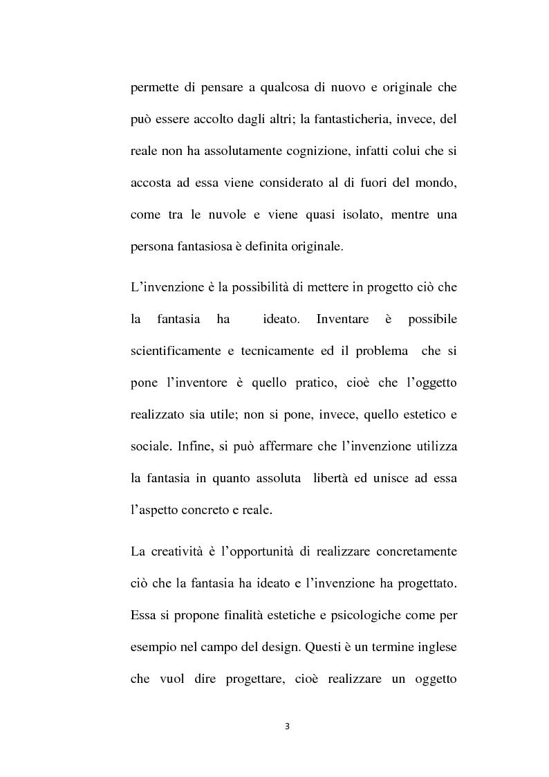Anteprima della tesi: Immaginazione. Il suo ruolo nel mondo reale del bambino, Pagina 4