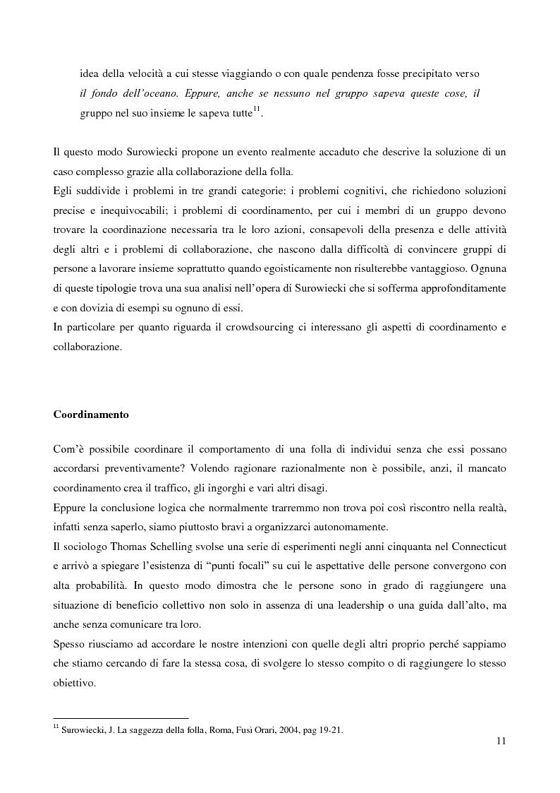 Anteprima della tesi: Crowdsourcing e open-innovation. Perché la folla conosce la soluzione migliore., Pagina 11