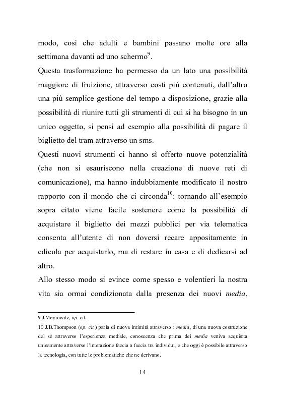 Anteprima della tesi: Giovani multitasking. Una ricerca di Media Education con i pre-adolescenti, Pagina 10