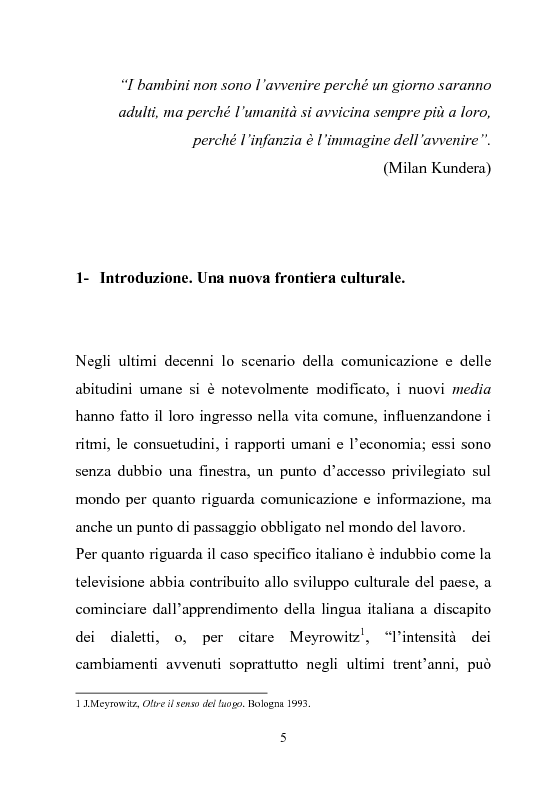 Anteprima della tesi: Giovani multitasking. Una ricerca di Media Education con i pre-adolescenti, Pagina 2