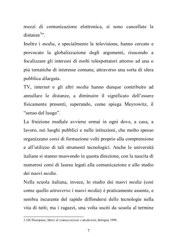 Anteprima della tesi: Giovani multitasking. Una ricerca di Media Education con i pre-adolescenti, Pagina 4