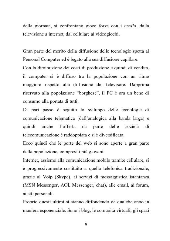 Anteprima della tesi: Giovani multitasking. Una ricerca di Media Education con i pre-adolescenti, Pagina 5