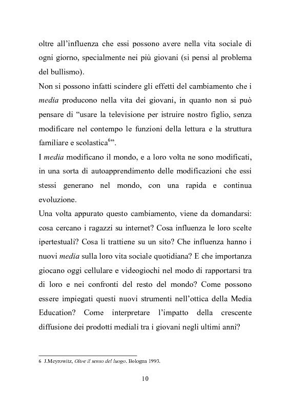 Anteprima della tesi: Giovani multitasking. Una ricerca di Media Education con i pre-adolescenti, Pagina 7