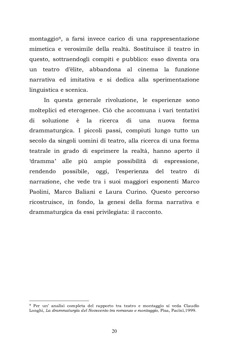 Anteprima della tesi: Teatro, memoria, identità: l'esperienza di Marco Paolini, Pagina 12