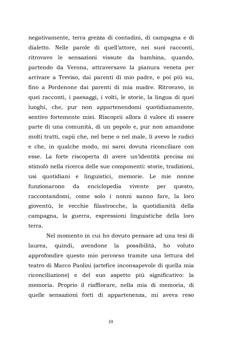 Anteprima della tesi: Teatro, memoria, identità: l'esperienza di Marco Paolini, Pagina 3