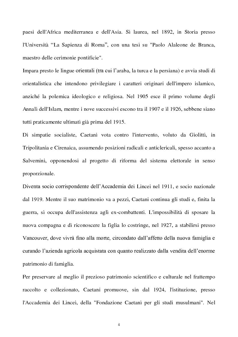 Anteprima della tesi: Orientalismo e storiografia in Leone Caetani, Pagina 5