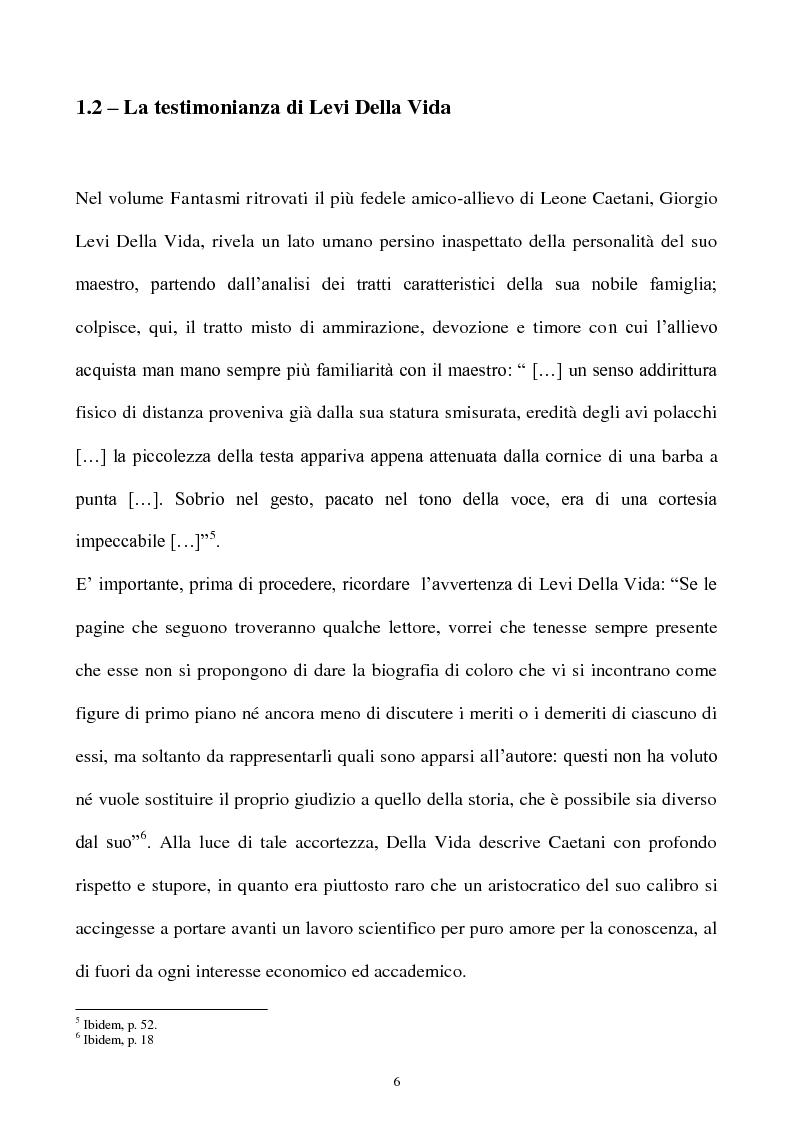 Anteprima della tesi: Orientalismo e storiografia in Leone Caetani, Pagina 7
