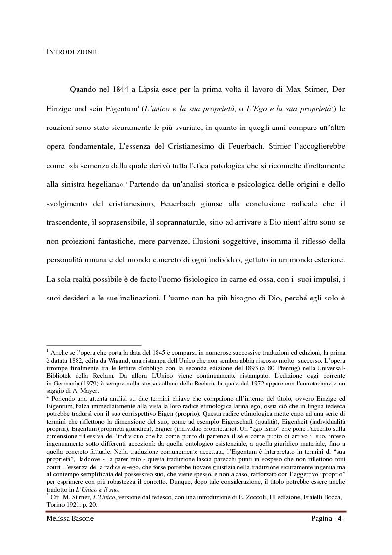 Anteprima della tesi: Ritorno all'Egoismo. Max Stirner e il liberalismo umanitario, Pagina 2