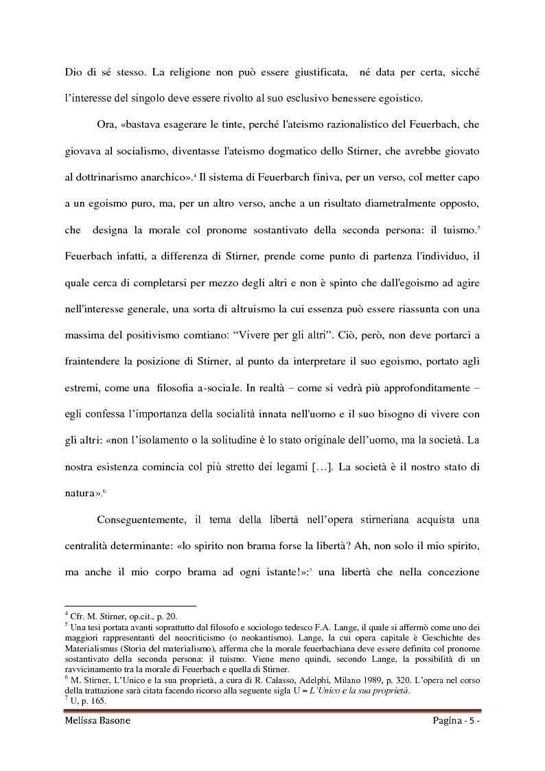 Anteprima della tesi: Ritorno all'Egoismo. Max Stirner e il liberalismo umanitario, Pagina 3
