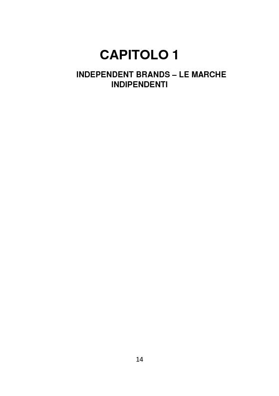 Anteprima della tesi: Independent Brands: il viaggio della marca dall'indie al mainstream, Pagina 6