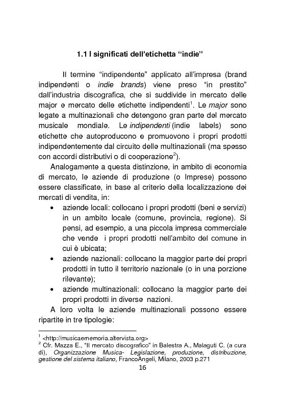 Anteprima della tesi: Independent Brands: il viaggio della marca dall'indie al mainstream, Pagina 7