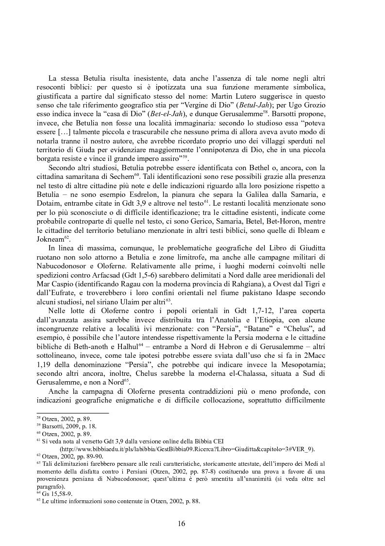 Anteprima della tesi: Rappresentazioni di un'eroina ambigua: Giuditta nella Bibbia e in due componimenti medievali inglesi, Pagina 15