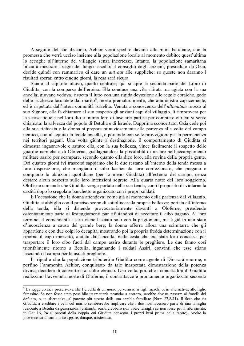 Anteprima della tesi: Rappresentazioni di un'eroina ambigua: Giuditta nella Bibbia e in due componimenti medievali inglesi, Pagina 9