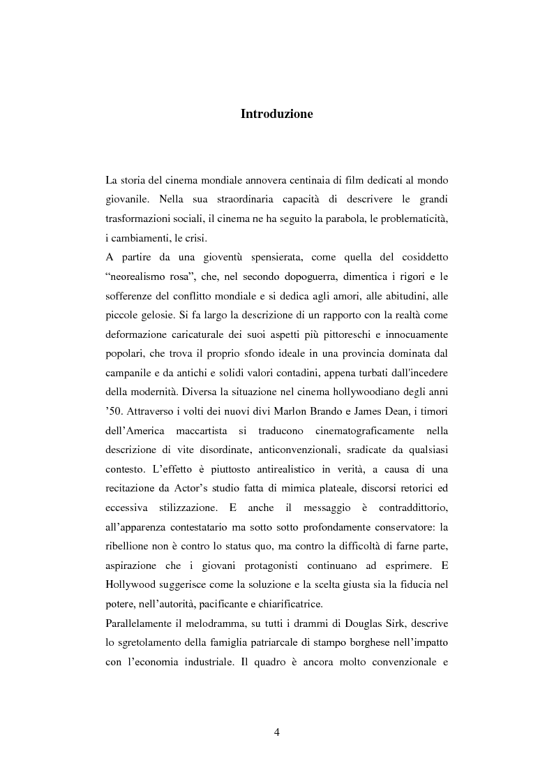 Anteprima della tesi: La colpa innocente. Lo sguardo cinematografico sulle interferenze ambientali nello sviluppo adolescenziale: Loach, Jordan, Bellocchio, Van Sant, Pagina 2
