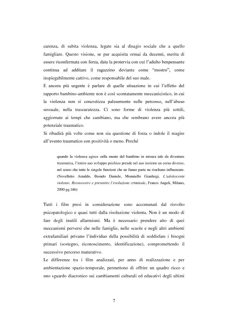 Anteprima della tesi: La colpa innocente. Lo sguardo cinematografico sulle interferenze ambientali nello sviluppo adolescenziale: Loach, Jordan, Bellocchio, Van Sant, Pagina 5