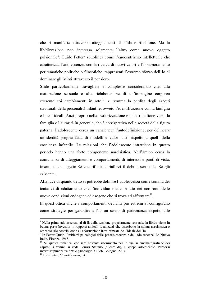Anteprima della tesi: La colpa innocente. Lo sguardo cinematografico sulle interferenze ambientali nello sviluppo adolescenziale: Loach, Jordan, Bellocchio, Van Sant, Pagina 8