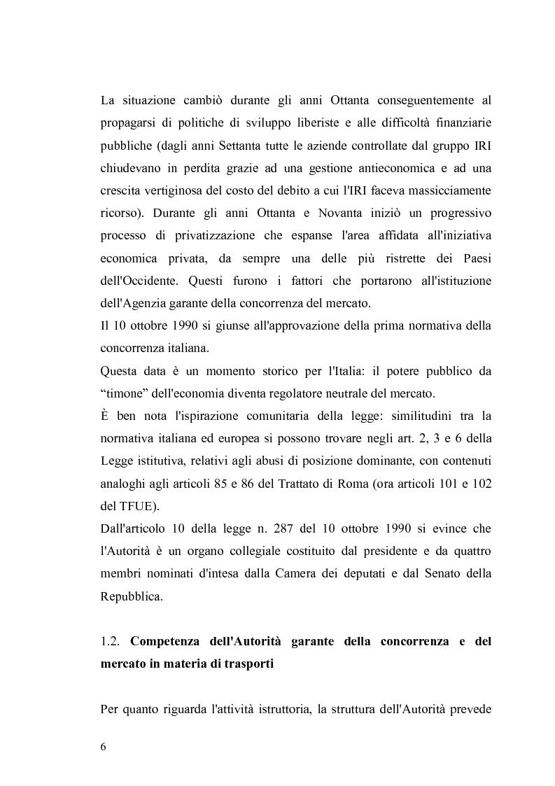 Anteprima della tesi: I provvedimenti dell'Autorità garante nel settore dei trasporti, Pagina 4