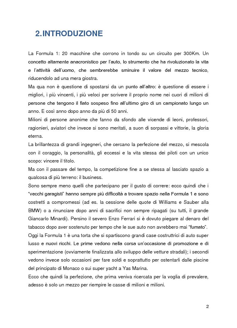 Anteprima della tesi: Le sponsorizzazioni in Formula 1: panoramica teorica ed analisi sul ruolo dello status nella determinazione del valore dei contratti, Pagina 2