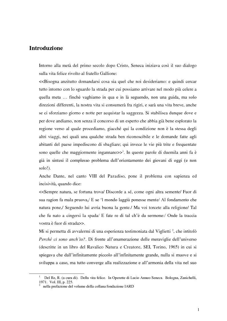 Anteprima della tesi: Le dinamiche motivazionali nell'orientamento scolastico-professionale, Pagina 2