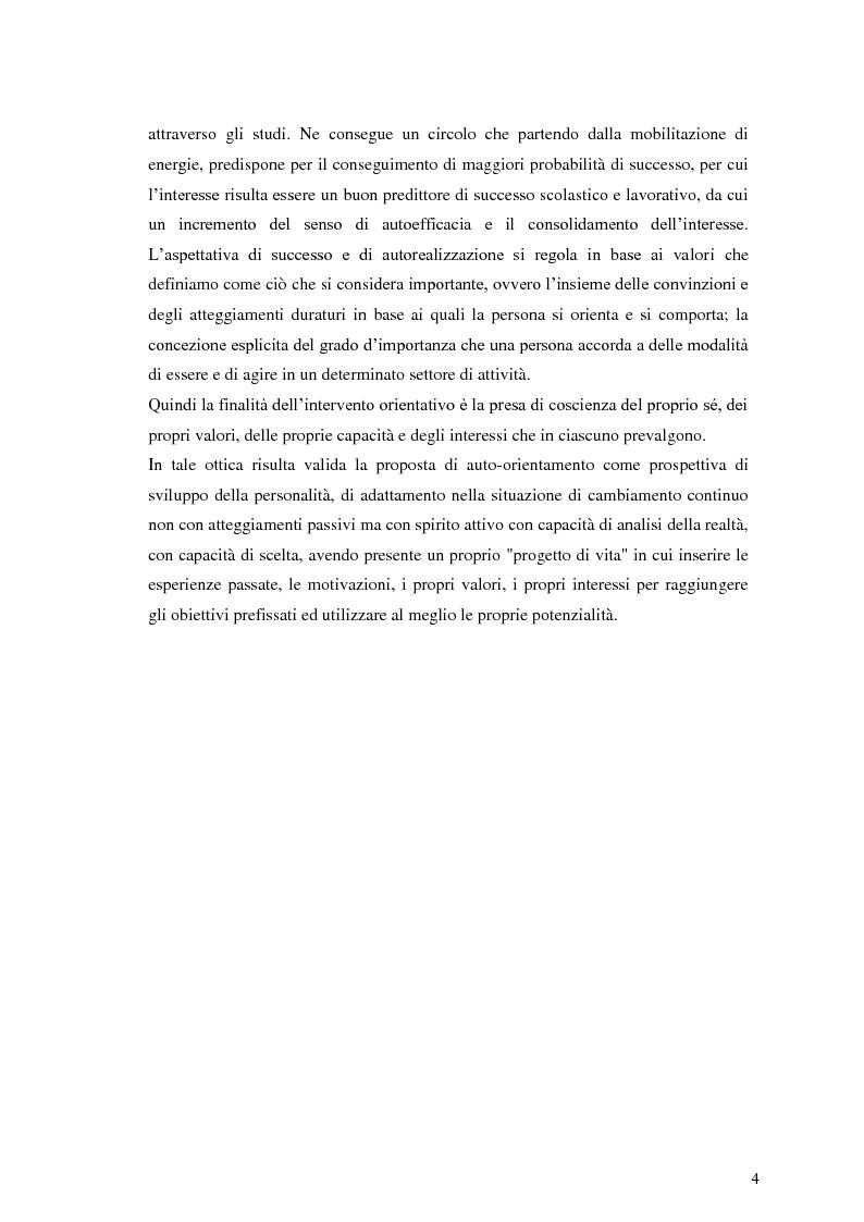 Anteprima della tesi: Le dinamiche motivazionali nell'orientamento scolastico-professionale, Pagina 5