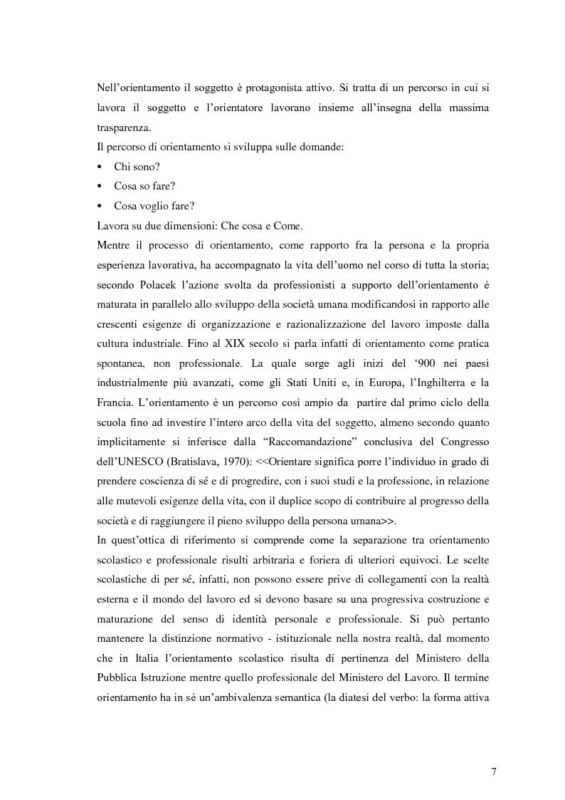 Anteprima della tesi: Le dinamiche motivazionali nell'orientamento scolastico-professionale, Pagina 7