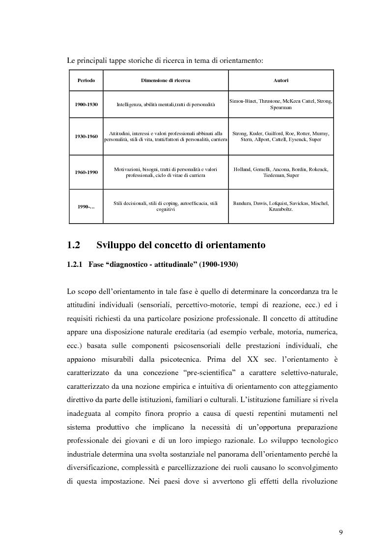 Anteprima della tesi: Le dinamiche motivazionali nell'orientamento scolastico-professionale, Pagina 9