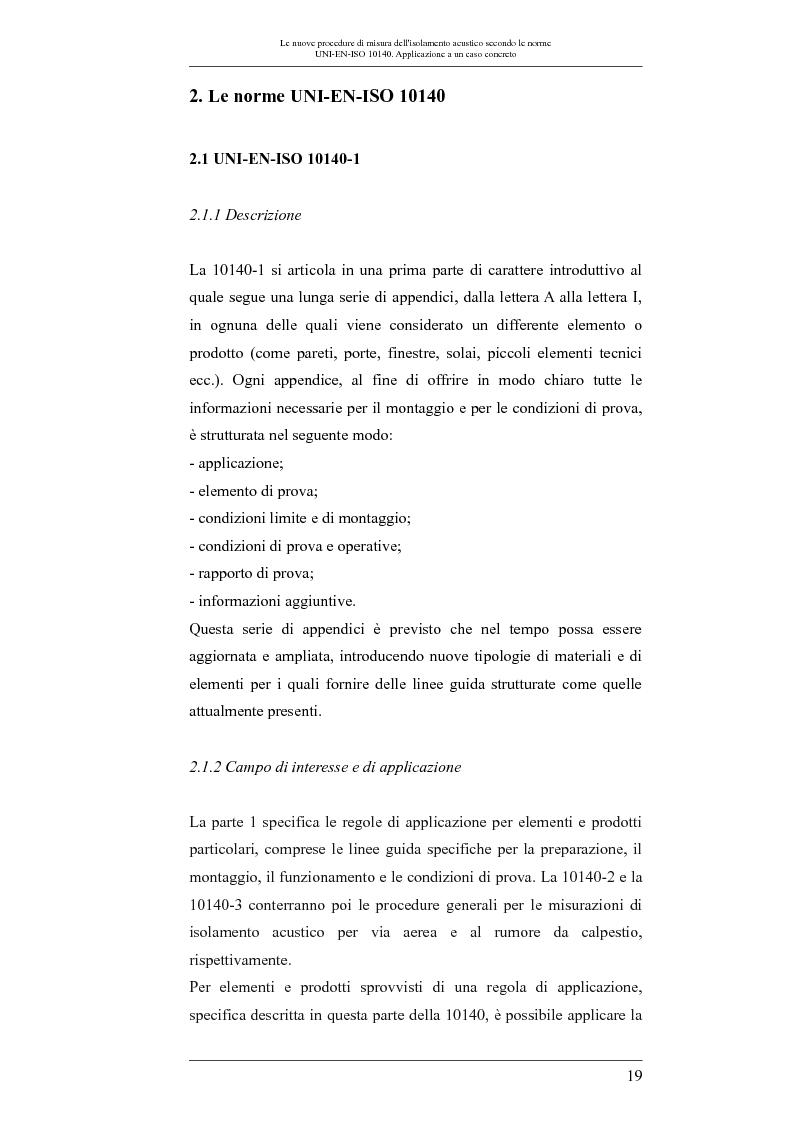 Anteprima della tesi: Le nuove procedure di misura dell'isolamento acustico secondo le norme UNI-EN-ISO 10140: applicazione a un caso concreto, Pagina 2